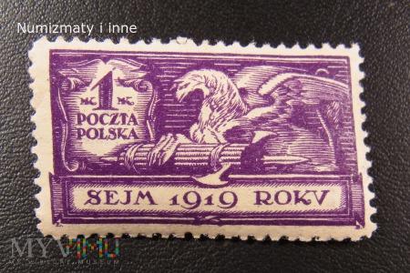 Znaczki sejm 1919 roku