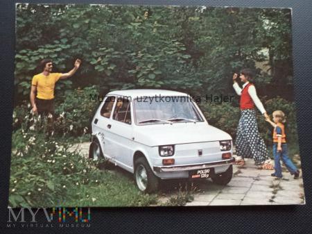Polski Fiat 126p Kartka pocztowa