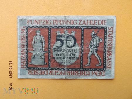 Notgeld - Bielefeld - 50 Pfennig 1918r.