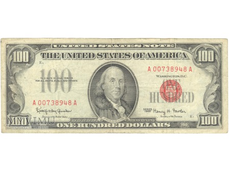 100 USD 1966 UNTTED STATES NOTE