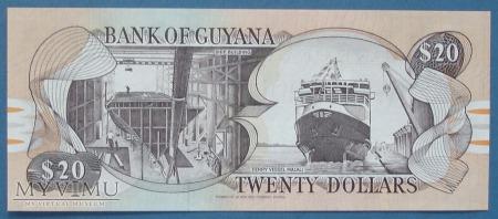 20 dolarow 1989 r - Gujana