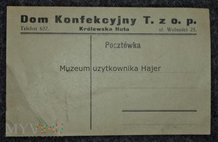 Dom Konfekcyjny T.Zo.p Królewska Huta Pocztówka