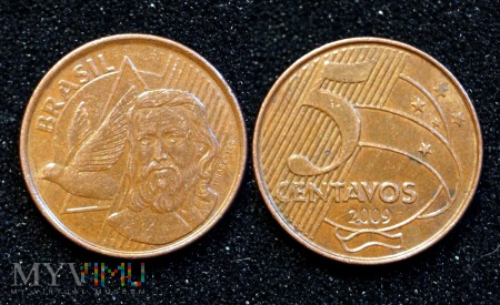 Brazylia, 5 centavos 2009