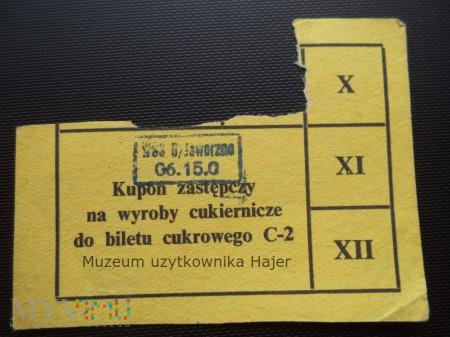 Kartka na słodycze bilet cukrowy C-2