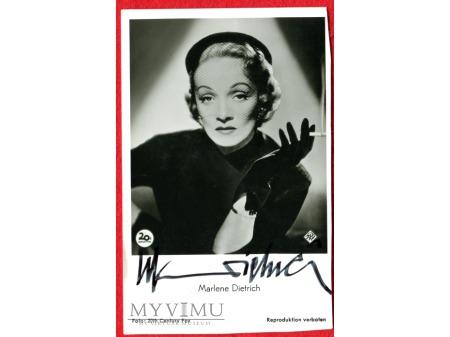 Marlene Dietrich AUTOGRAF MARLENA
