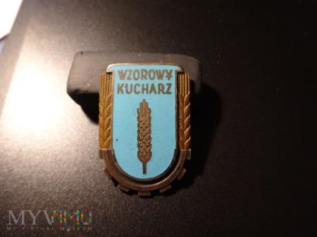 Wzorowy Kucharz z 1953r odznaka sygnowana
