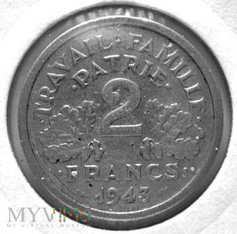 2 franki 1943 r Francja (Vichy)