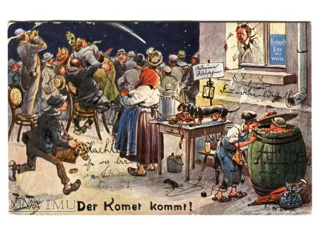 1910 Arthur Thiele Kometa Halleya nadchodzi
