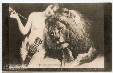Courten - Miłość i siła - Akt z lwem