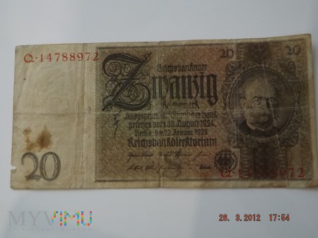 20 reischmark 1929