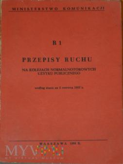 1988 - R 1 Przepisy ruchu na kolejach normalnotor.