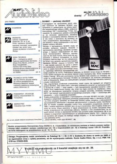 SAT AUDIO VIDEO 1991 rok, cz.I