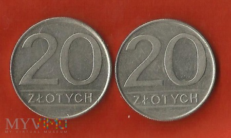 Polska 20 złotych, 1984/1985