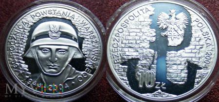 10 zł (2004) - 60.rocz. Powstania Warszawskiego Ag