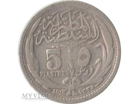 5 piastres 1916 rok