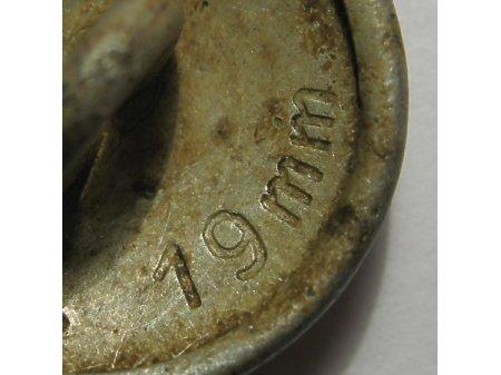 Guzik niemiecki (groszek) MK 19 mm