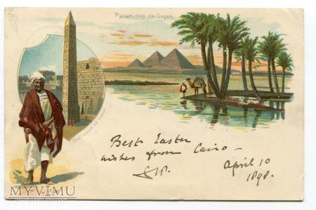 1898 Wielkanoc Egipt Caire piramidy Giza Gizeh