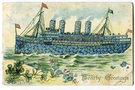 1909 USA Niezapominajki Statek z kwiatów