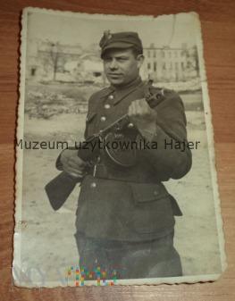 Zdjęcie żołnierza LWP z PPsz Warszawa