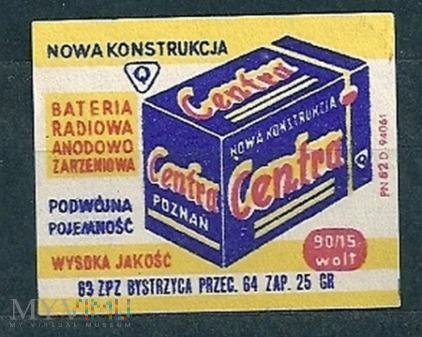 Centra Bateria Radiowo Anodowo Żarzeniowa.12.1963.