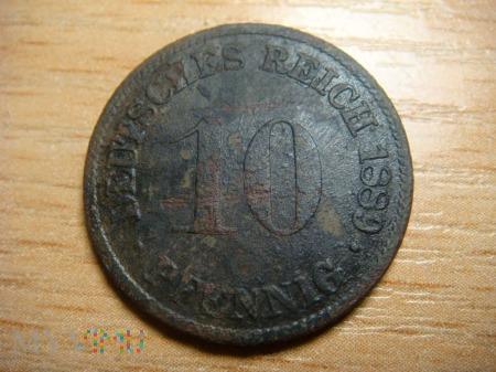 10 pfennig 1889 ,D