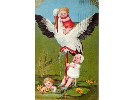 1909 Bocian i skąd się biorą dzieci . Tylko tutaj