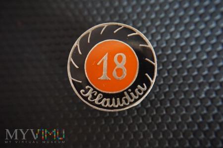 Duże zdjęcie Pamiątkowa Odznaka Zlotowa - 18 tka Klaudi