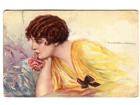 Tito Corbella dama ART DECO 1919 Włochy