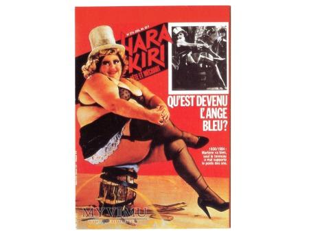 MARLENE Dietrich 1984 Błękitny Anioł Hara Kiri
