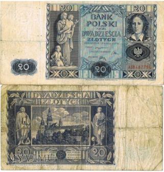 banknoty polskie rok1926/1934