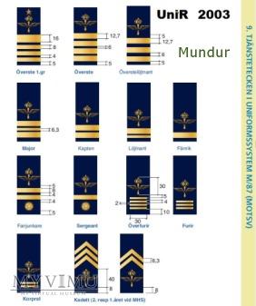 Szwecja - oznaka stopnia flygvapnet: podporucznik