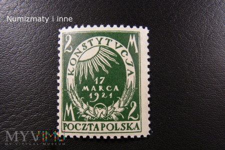 znaczki Konstytucja 17 marca 1921 roku