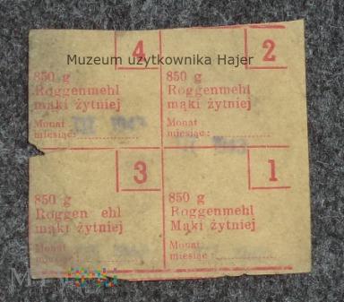 Kartka żywnościowa III Rzesza 1943 rok
