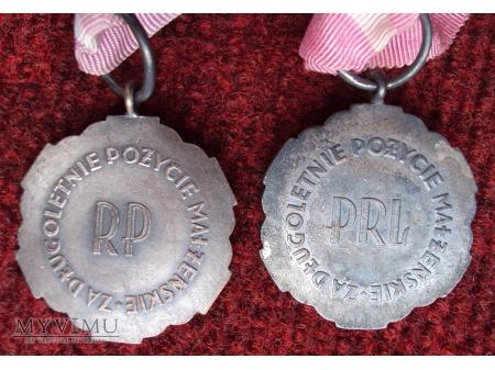 Medal Długoletnie Pożycie Małżeńskie PRL i RP