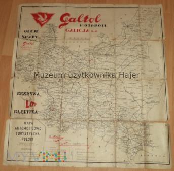 Mapa Automobilowo Turystyczna Polski Lwów Galton