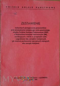 1991 - Wytyczne prowadzenia ruchu między PKP-DR