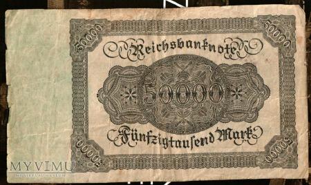 50000 marek- 1923 - Niemcy
