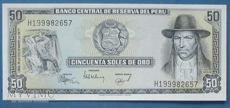 50 soles 1977 r - Peru