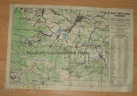 Mapa Turystyczna Karkonoszy i okolic Jeleniej Góry