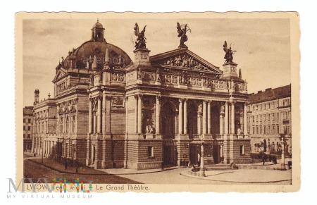 Lwów - Teatr wielki lata 30. XX w.