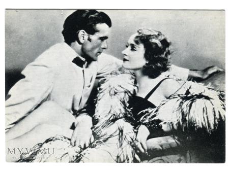 Marlene Dietrich Gary Cooper film Marocco postcard