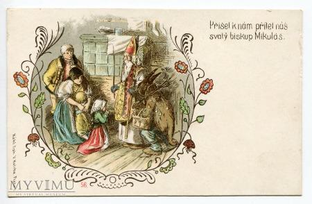 Diabeł i Święty Mikołaj Krampus i St. Nicholas