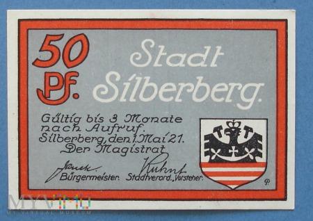 50 Pfennig 1921 - Silberberg - Srebrna Góra