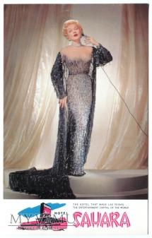 Marlene Dietrich Las Vegas Sahara Hotel pocztówka