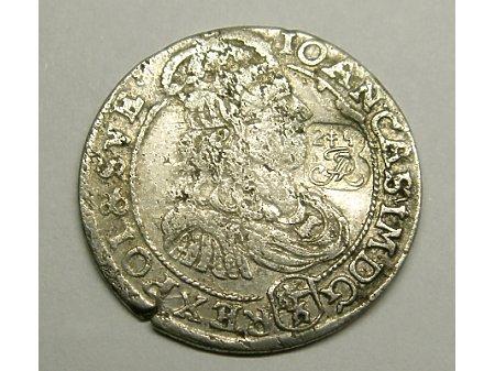 Szóstak mennica Bydgoszcz- 1667 r