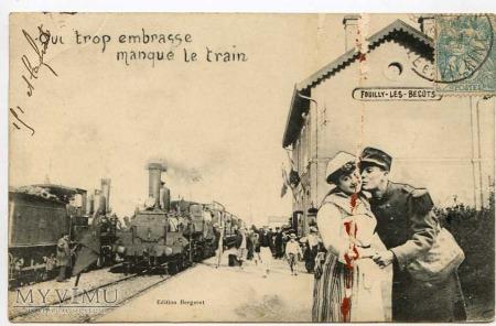 Qui trop embrasse manque le train