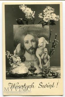 Duże zdjęcie 1957 WIELKANOC PRL WESOŁYCH ŚWIĄT