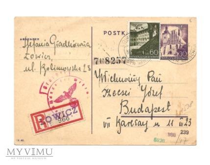 Całostka pocztowa Cp 8I