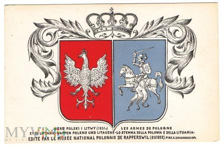 Duże zdjęcie Herb Polski i Litwy 1831 r. Rapperswil.
