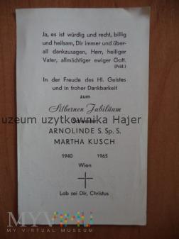 Kusch Martha Schwester 1965 Wien